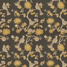Graphite Animal Drapery and Upholstery Fabric by Trend