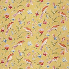 Maize Animal Drapery and Upholstery Fabric by Stroheim