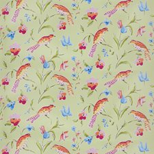 Grass Animal Drapery and Upholstery Fabric by Stroheim