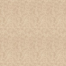 Beige Scrollwork Drapery and Upholstery Fabric by Trend