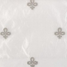 Grey Fleur De Lis Drapery and Upholstery Fabric by Highland Court