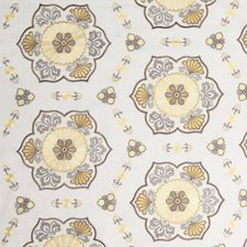Lemon Meringue Embroidery Drapery and Upholstery Fabric by Vervain