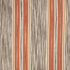 Coral Spice Stripes Drapery and Upholstery Fabric by Vervain