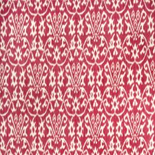 Red Flamestitch Drapery and Upholstery Fabric by Vervain