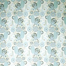 Seafoam Floral Drapery and Upholstery Fabric by Vervain