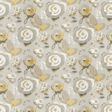 Citron Floral Drapery and Upholstery Fabric by Vervain