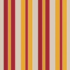 Red Curry Stripes Drapery and Upholstery Fabric by Vervain