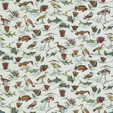 Laurel Mist Animal Drapery and Upholstery Fabric by Stroheim