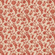 Terra Cotta Floral Drapery and Upholstery Fabric by Fabricut