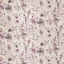Amethyst Floral Drapery and Upholstery Fabric by Vervain