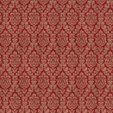 Claret Damask Drapery and Upholstery Fabric by Fabricut