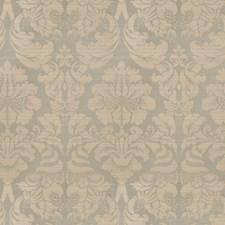 Aqua Damask Drapery and Upholstery Fabric by Fabricut
