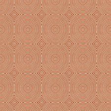 Orange Geometric Drapery and Upholstery Fabric by Trend