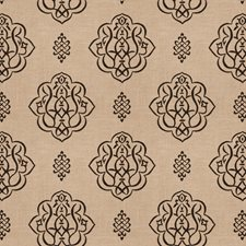 Black Print Pattern Drapery and Upholstery Fabric by Trend