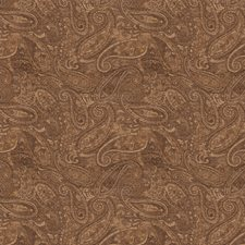 Mushroom Paisley Drapery and Upholstery Fabric by Trend