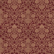 Garnet Damask Drapery and Upholstery Fabric by Stroheim