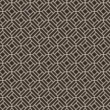 Charcoal Geometric Drapery and Upholstery Fabric by Stroheim
