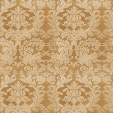Mustard Seed Damask Drapery and Upholstery Fabric by Stroheim