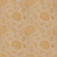 Gold Leaf Floral Drapery and Upholstery Fabric by Stroheim