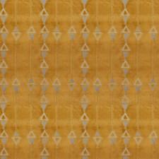 Yellowflower Geometric Drapery and Upholstery Fabric by S. Harris
