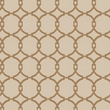 Tan Embroidery Drapery and Upholstery Fabric by Trend