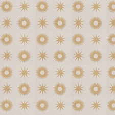 Gold Print Pattern Drapery and Upholstery Fabric by Trend