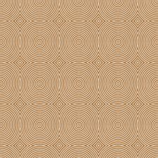 Umber Geometric Drapery and Upholstery Fabric by Trend