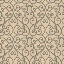 Ocean Scrollwork Drapery and Upholstery Fabric by Trend