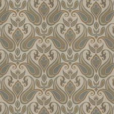 Olive Paisley Drapery and Upholstery Fabric by Trend