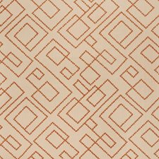 Orange Embroidery Drapery and Upholstery Fabric by Fabricut