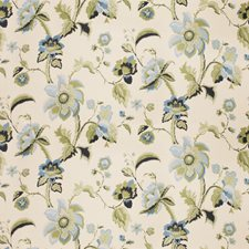 Caribe Floral Drapery and Upholstery Fabric by Vervain