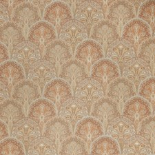 Pumpkin Flamestitch Drapery and Upholstery Fabric by Stroheim