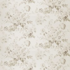 Natural Floral Drapery and Upholstery Fabric by Stroheim