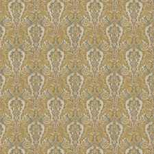 Pear/Aqua Paisley Drapery and Upholstery Fabric by Stroheim