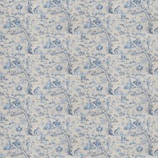Indigo Asian Drapery and Upholstery Fabric by Fabricut