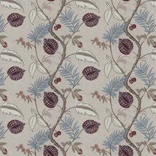 Barberry Embroidery Drapery and Upholstery Fabric by Stroheim