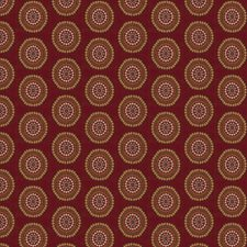 Ruby Geometric Drapery and Upholstery Fabric by Trend