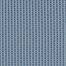 Tile Blue Drapery and Upholstery Fabric by Schumacher