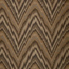 Caramel Flamestitch Drapery and Upholstery Fabric by Trend