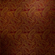 Claret Paisley Drapery and Upholstery Fabric by Trend
