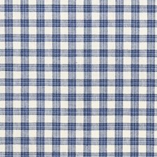 Denim Check Drapery and Upholstery Fabric by Trend