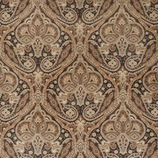 Licorice Paisley Drapery and Upholstery Fabric by Trend