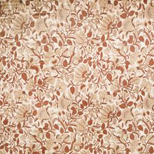 Nutmeg Floral Drapery and Upholstery Fabric by Trend