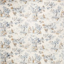 Cobalt Print Pattern Drapery and Upholstery Fabric by Trend