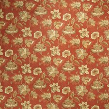 Garnet Floral Drapery and Upholstery Fabric by Trend