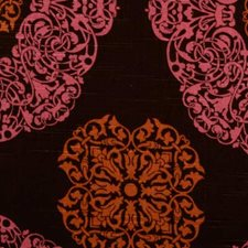 Pink/brown Drapery and Upholstery Fabric by B. Berger