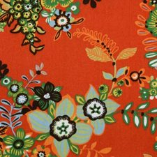 Flame Floral Large Drapery and Upholstery Fabric by B. Berger