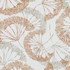 Persimmon Floral Large Drapery and Upholstery Fabric by Duralee