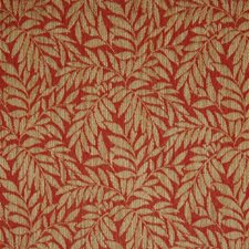 Brick Floral Drapery and Upholstery Fabric by Greenhouse