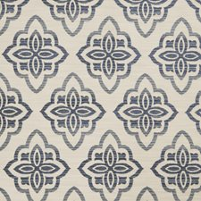Indigo Medallion Drapery and Upholstery Fabric by Trend